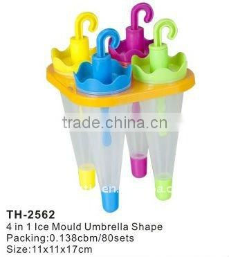 4 in 1 mould umbrella shape plastic ice maker