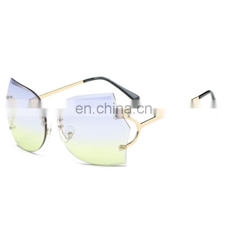 frame sunglasses European irregular eyeglasses anti-sun sunglass