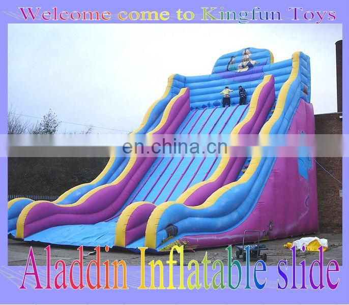 Football player inflatable slide