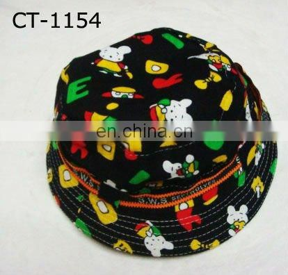 bunny printing bucket children hat