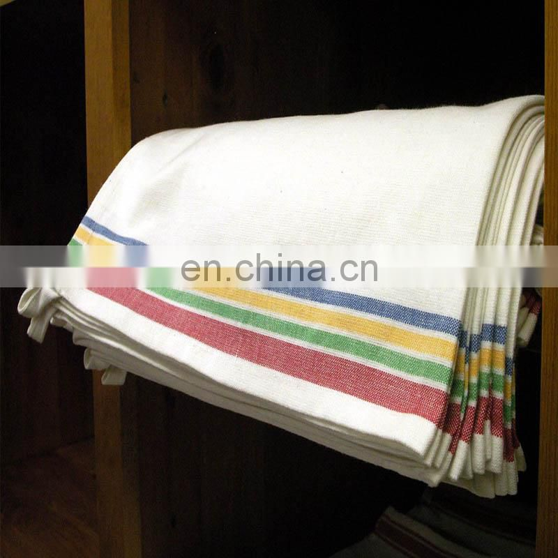 colorful stripe cotton kitchen tea towel