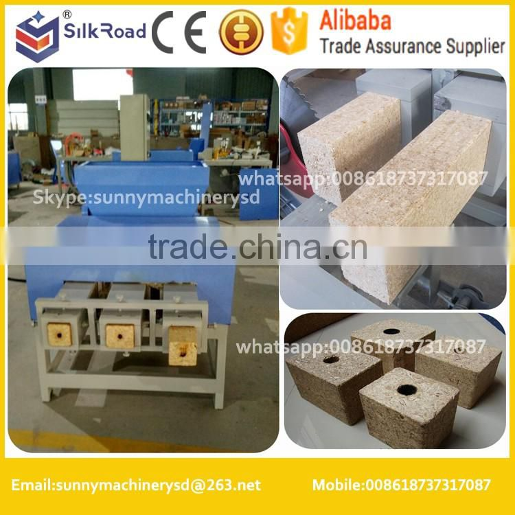 sawdust recycling machinery wood pallet feet making machine