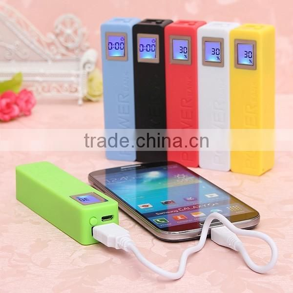 2017 OEM portable mobile power bank charger with led display for mobile phones