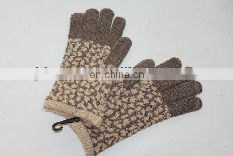wool glove (JDG-S5C#) hijab fabric#) knit glove