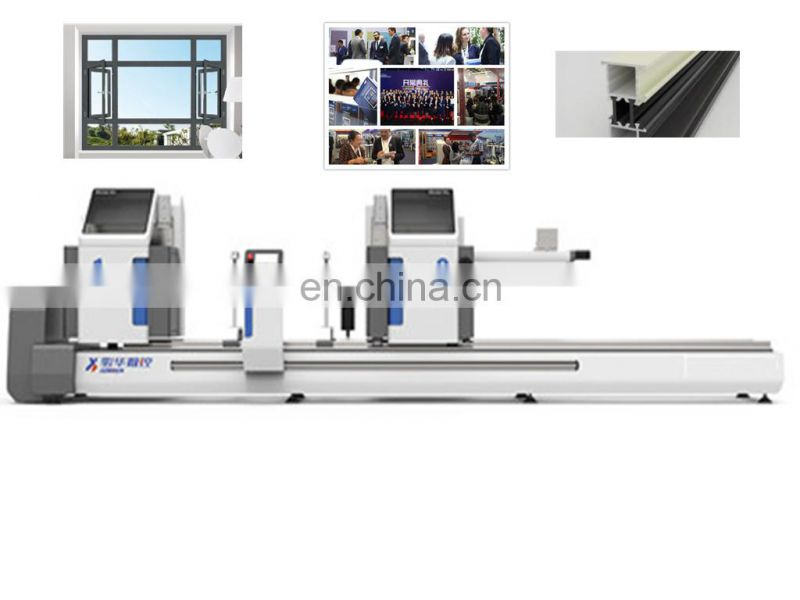 2-head&cnc cutting saw machinery alu clad timber window making machine with factory price