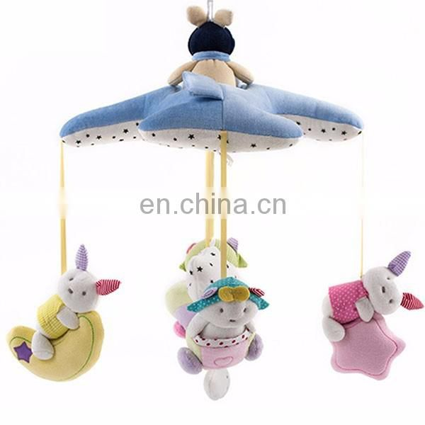 Baby Airplane Stuffed Toys Bedbell Size Musical Mobile Toy 0-12 Month Custom Animal