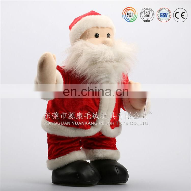 OEM customized design plush mini christmas santa doll