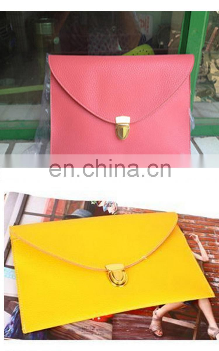 The new female bag mortise lock envelope bag with single shoulder slope across the chain pu female bag can be customized