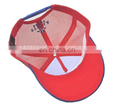2017 New Style Popular Custom mesh Trucker Hat with woven label, trucker cap