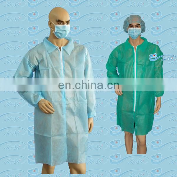 Disposable PE Visitor Clothes/PE Visitor Gown/Lab Coat PE