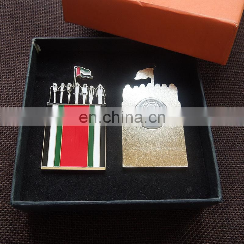 Celebration UAE 2018 Year Of Zayed Government Gold Magnet Pin Badge