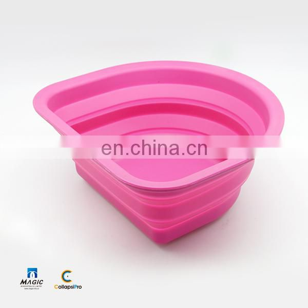 2018 Semicircle FDA Silicone Collapsible Water Bucket Foldable Food Storage Basket