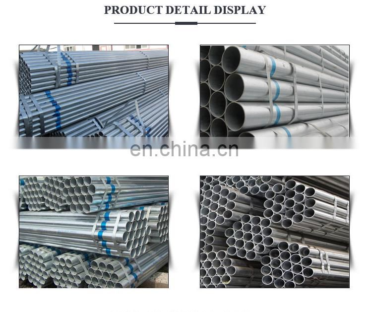 8 inch schedule 40 size od erw and ssaw galvanized steel pipe