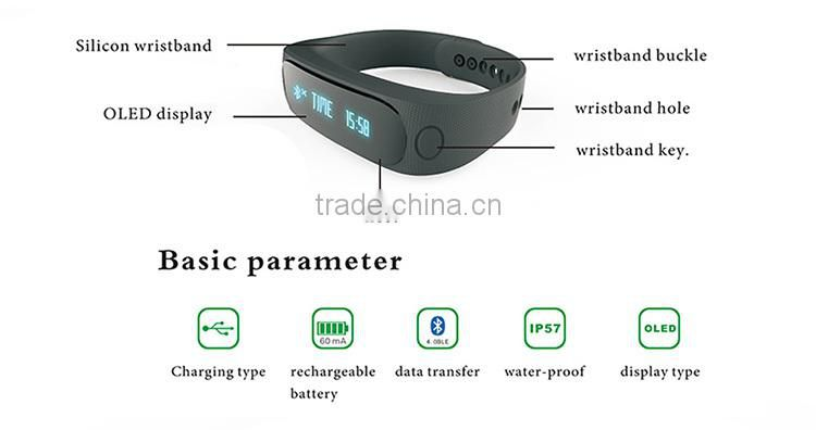 Unique design OEM Smart Bracelet 2015 for iOS and Android