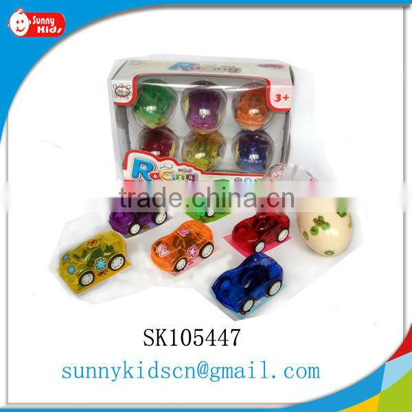Pretty pull back car capsule toy