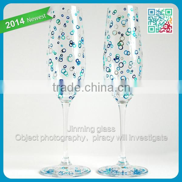 Ocean Bubbles Personalized Champagne Flutes 2 Hand Painted Wedding Toasting Flutes Wedding by the Sea stemware drinking glass
