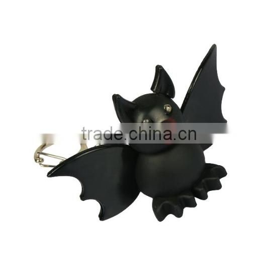 Luminous Sound Cartoon Plastic Bat Toy Pendant LED Key Chain,OEM Sound Shining plastic 3d Animal keychain,custom PVC 3d keychain