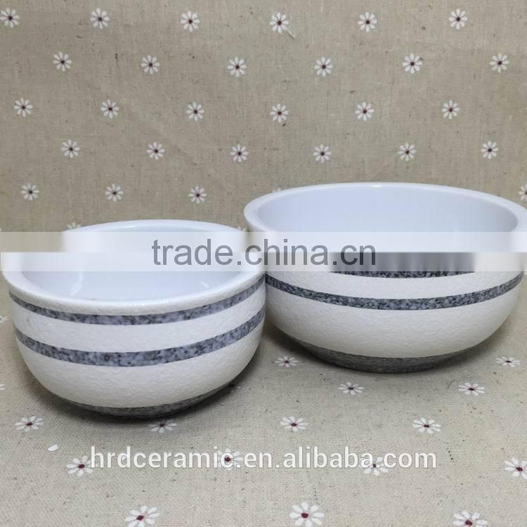 Stocked Personalized high quality ceramic soup bowl with two size