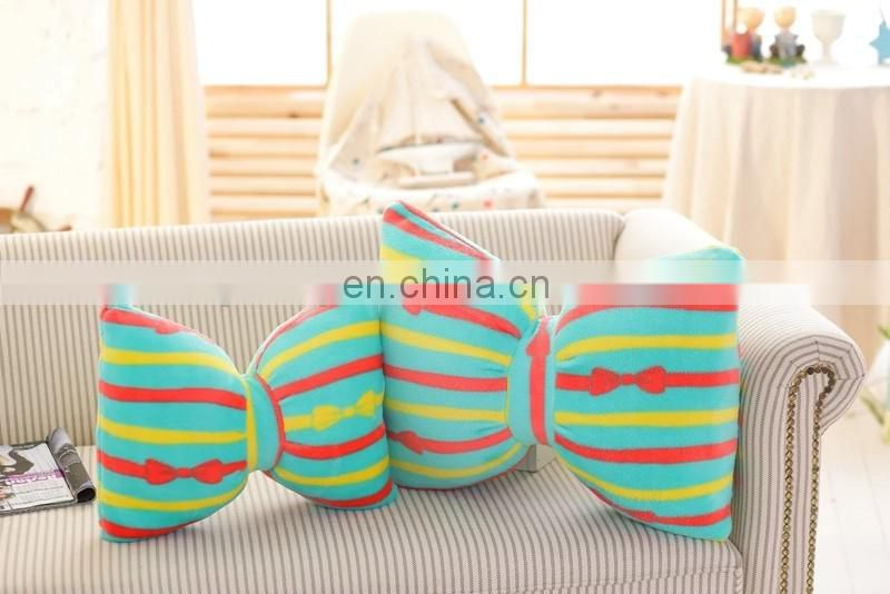 Great plush bowknot jelly shoe stuffed bowknot pillow