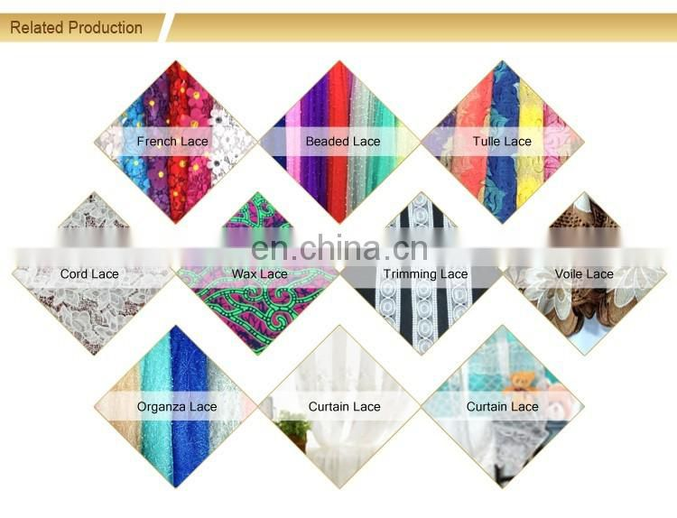 2016 Latest multi color guipure lace fabric new design cord lace
