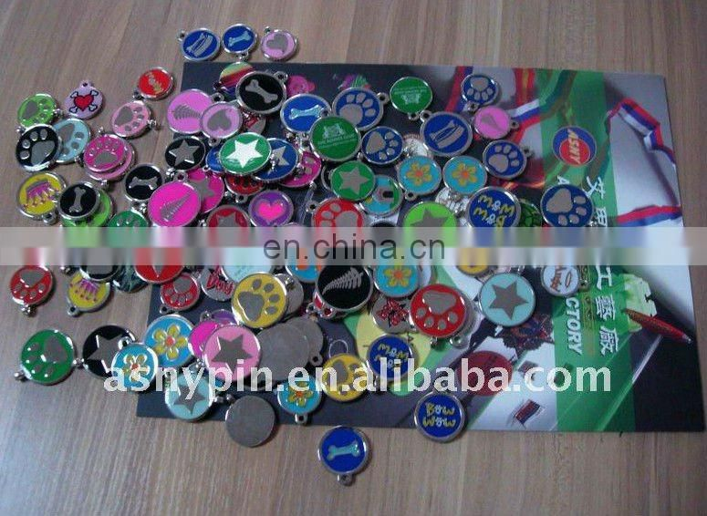 Unique laste design for aluminium blank pet tags with Gemstone flash