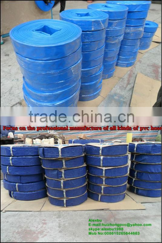 4 inch 100mm pvc layflat hose for irrigation