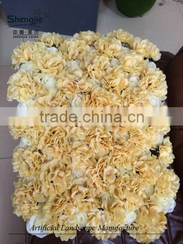 hydrangea and rose flower ,artificial flower carpet for sale