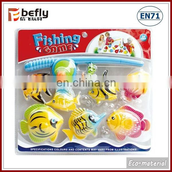 Cartoon magnetic bath fishing toy