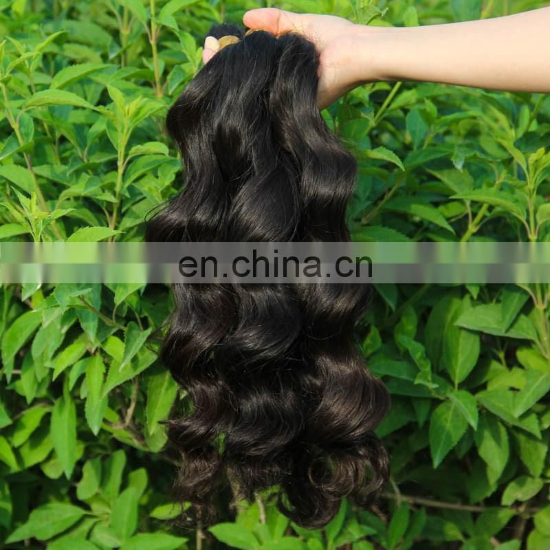 PayPal Accepted 100% Real Unprocessed 8A Wholesale Peruvian Virgin Hair Full Cuticle Ponytail Bulk Hair For Braiding Curly