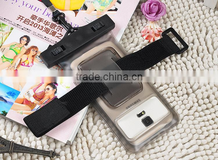 Outdoor swimming diving waterproof cell phone case with arm belt
