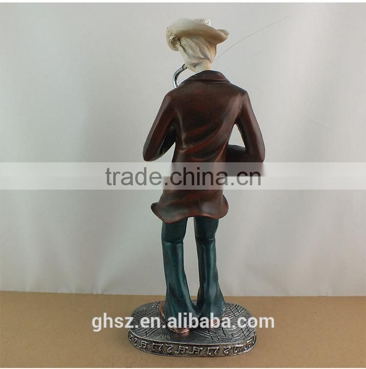 Guo hao 2015 hot sale wholesale resin musician figurines , custom musician statues