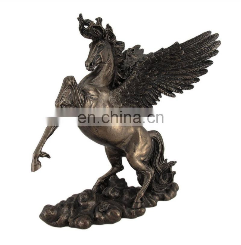 Lifelike and Majestic Standing Horse with Wing Animal Figure
