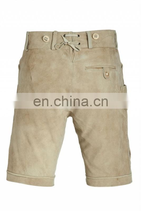 Leather Trousers, Suede-Leather German Shorts -Bavarian-Lederhosen
