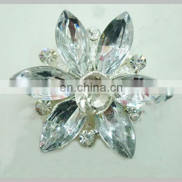 Trendy silver wholesale rhinestone buttons