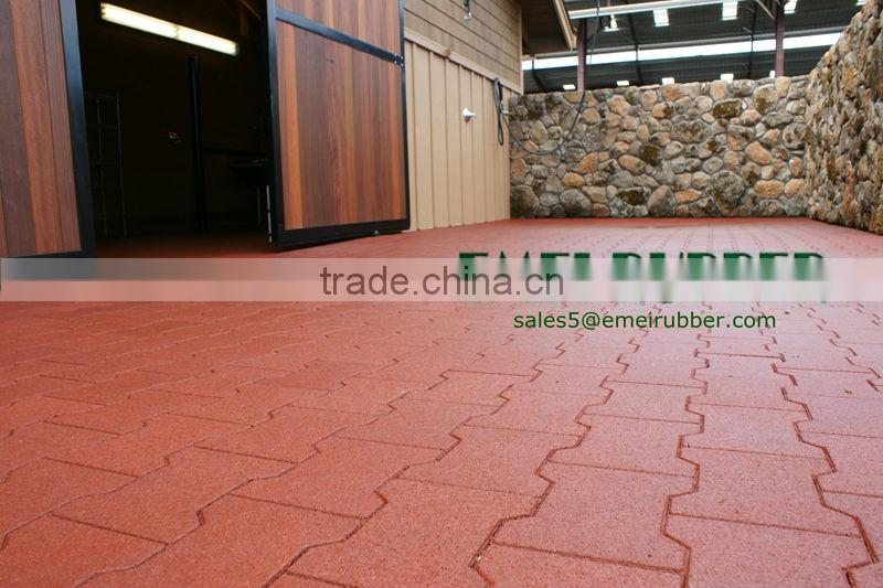 Recycled Rubber Pathway Patio Pavers