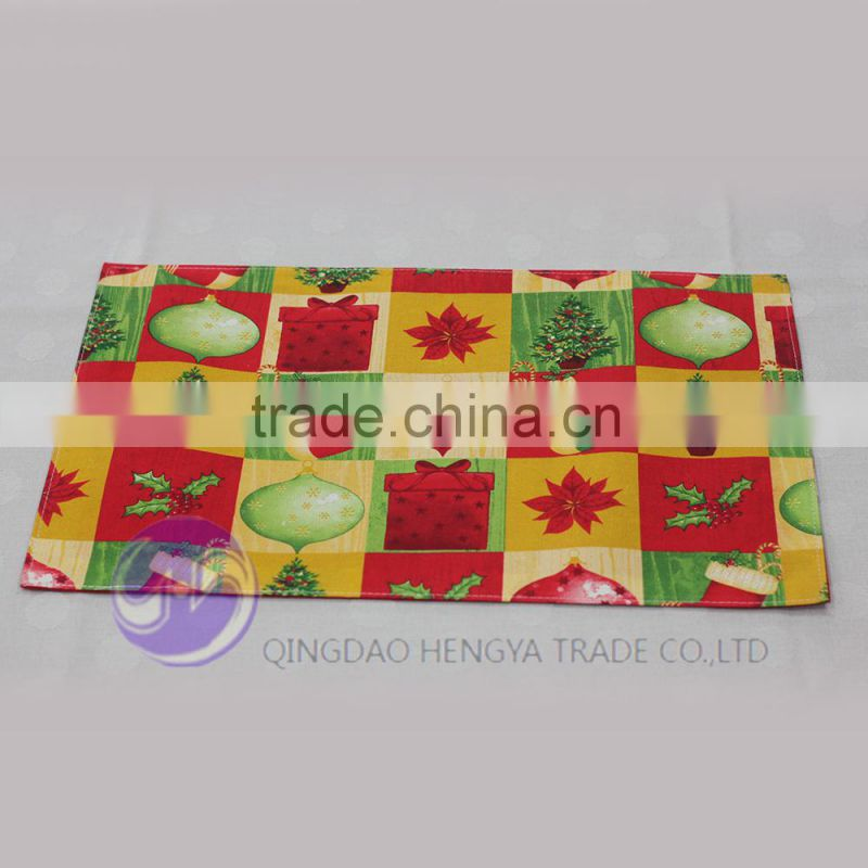 wholesale custom printed christmas placemat