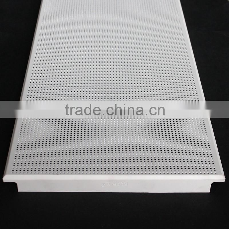 Acoustic Fireproof 300x1200mm Perforated Modern Metal Ceiling Tiles