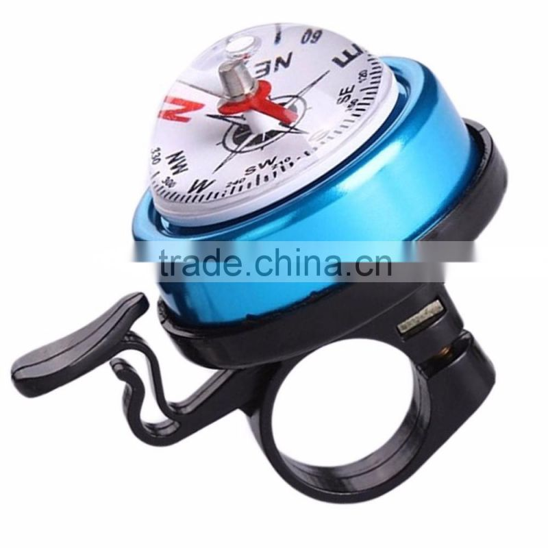 2016 new arrival Mountain Bike Bicycle Bell Horn Ring Metal Plastic Cycling Alarm compass