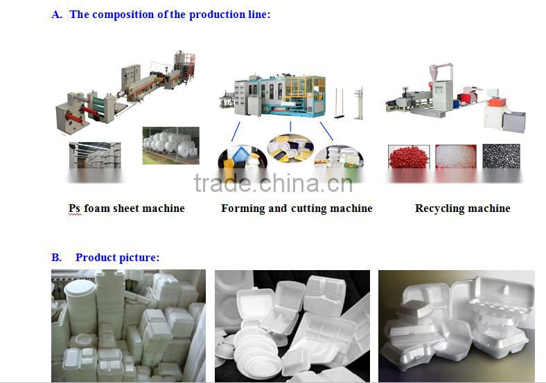 PS foam food box vacuum thermoforming machinery