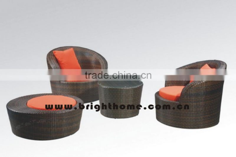 Low Flower Shaped Swivel Rattan Chair