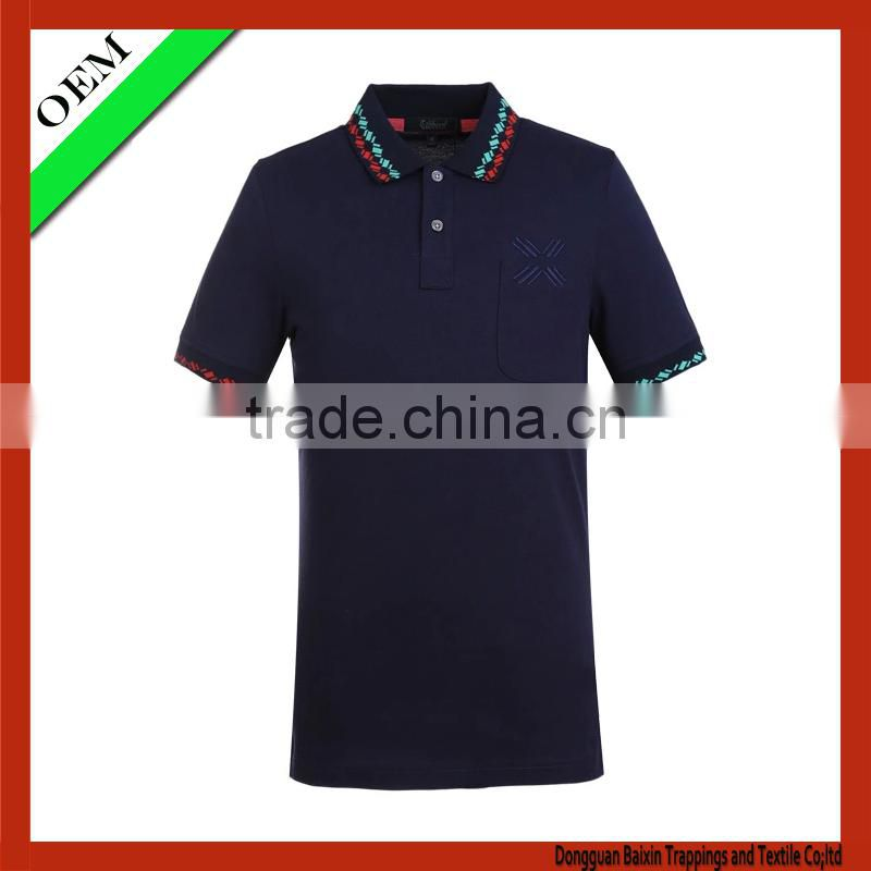 100% cotton polo T-Shirt With Short Sleeve