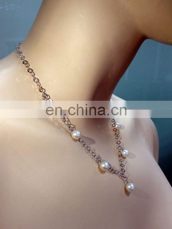 100% freshwater pearls--hot sale trendy pearl necklace