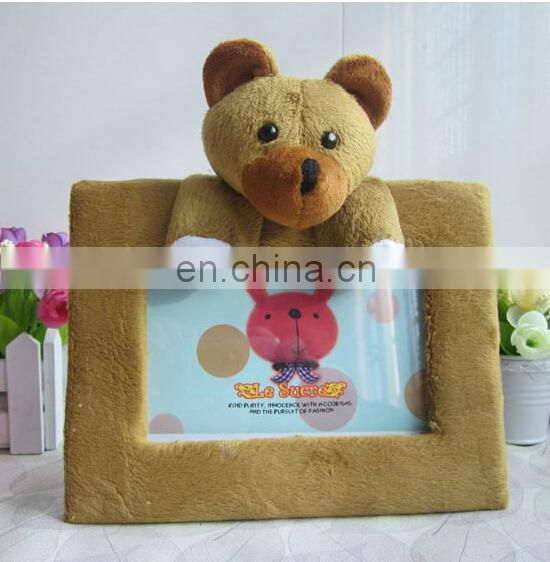 OEM facory design your own plush toy ,plush toy photo frame