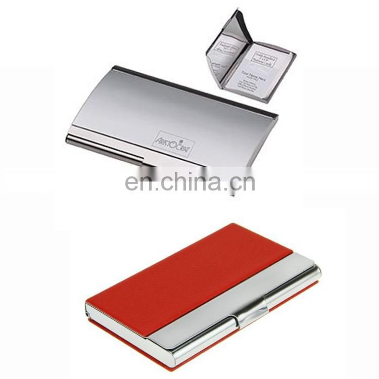 2017Best selling Metal aluminium men business name card holder