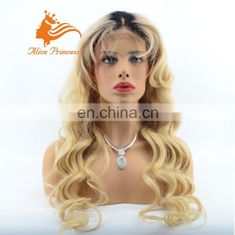 Hot sale Human Hair Full Lace Wigs New 613# Hair Style Lace Front Indian Hair