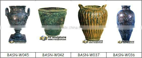 Beautiful bronze flower pot BASN-W057