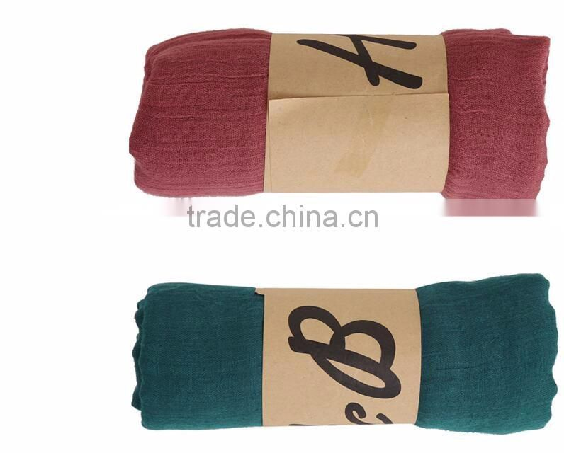 solid polyester many colors scarf 180*85cm scarf