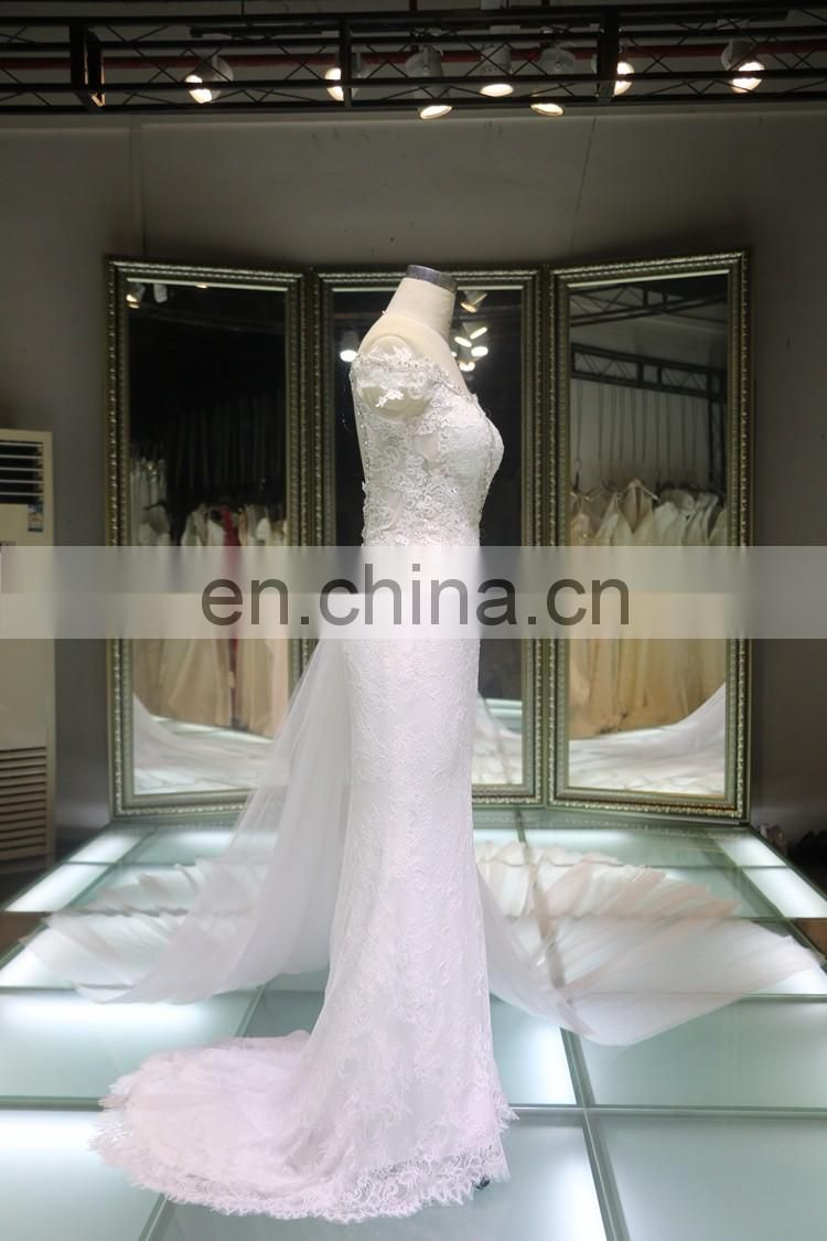 China custom made plus size night ball gown evening dress with long train