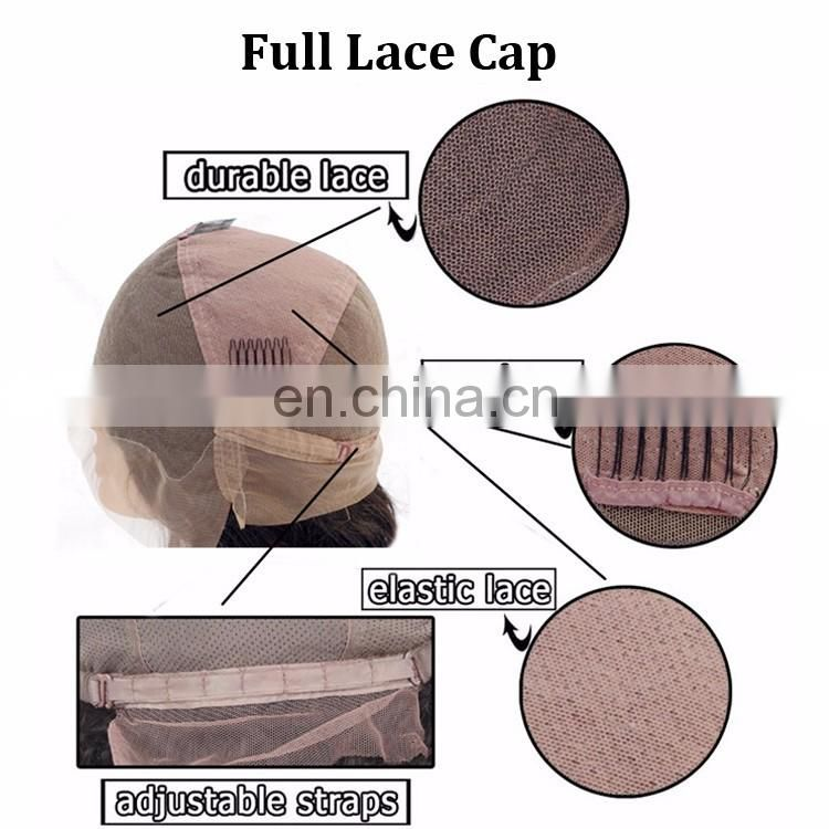 All Hand Made Wholesale Overnight Shipping High Quality Natural Balck Glueless Virgin Human Hair Heat Resistant Full Lace Wig