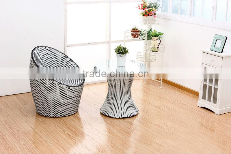 elegant restraunt Waterproof rattan patio garden furniture table and chairs